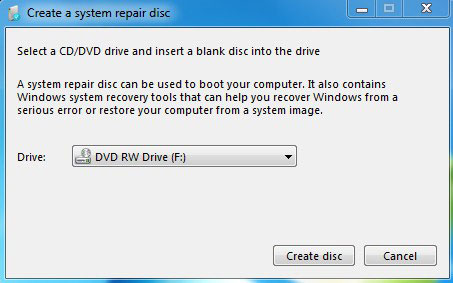 windows 7 backup disk