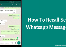 How To Recall Whatsapp Messages