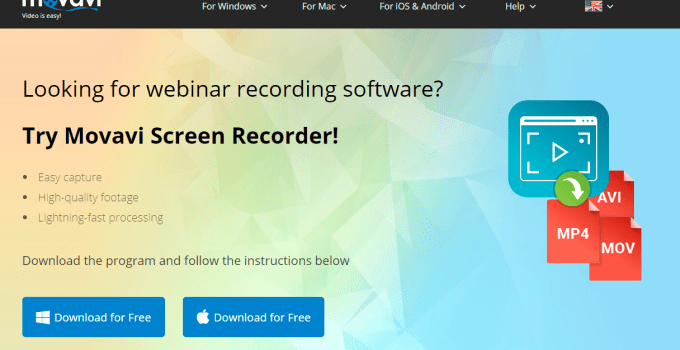 Record webinar