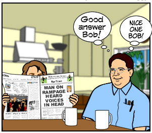 Image result for voices in head cartoon