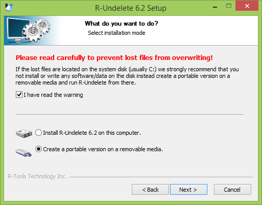 Installing R-Undelete to get back deleted files