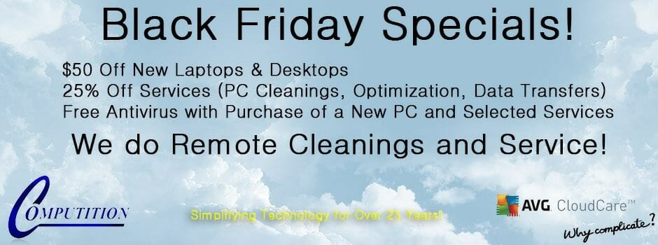 Black Friday Specials!