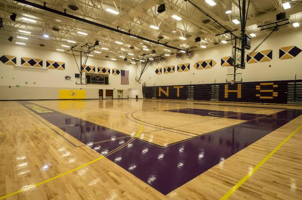 New Town High School Gymnasium Comstock Construction Inc