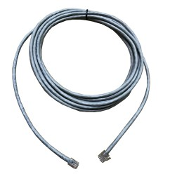 extension cord 6 way 6 position 4 contact round cable rj11 rj11 grey l 5mtr 4 pins connected [ 900 x 900 Pixel ]