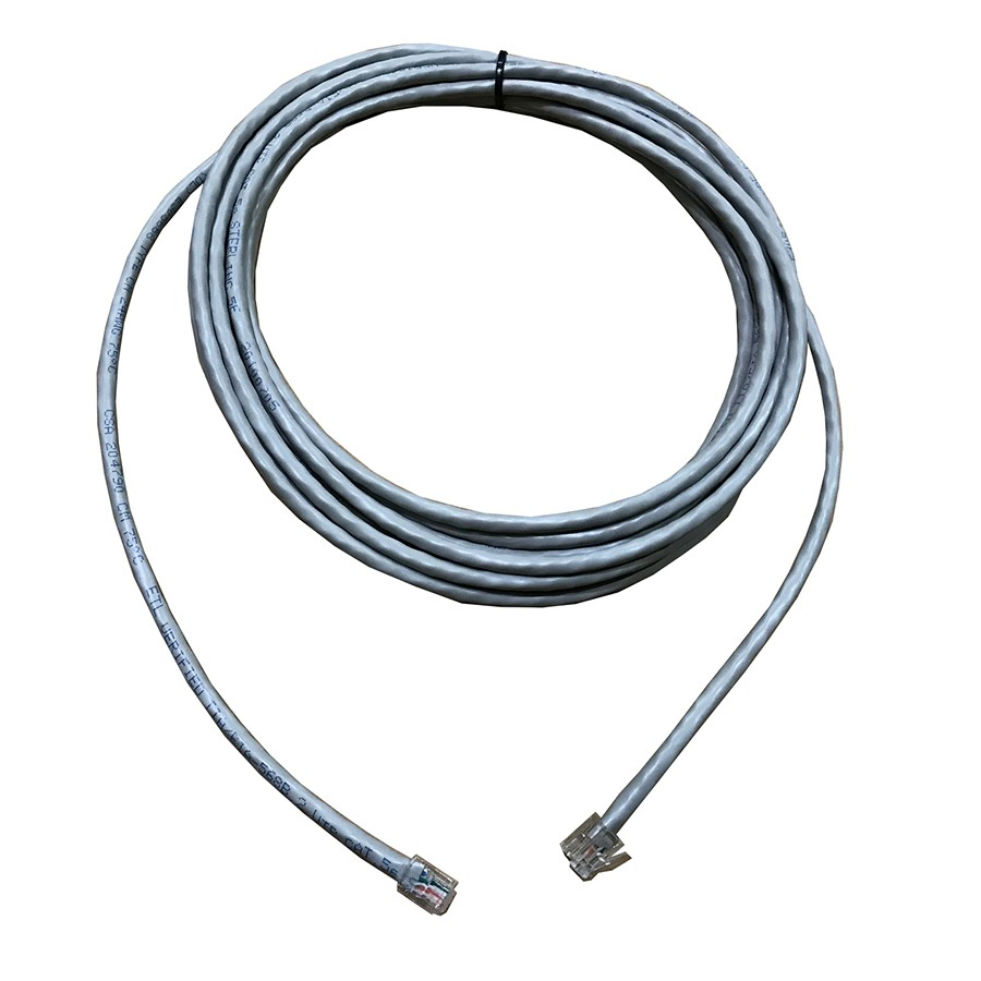 medium resolution of extension cord 6 way 6 position 4 contact round cable rj11 rj11 grey l 5mtr 4 pins connected