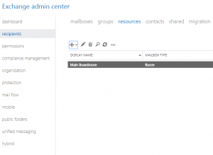 Setting Up Room or Equipment Mailboxes in Microsoft