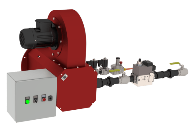 TFR-HT burner in 3D drawing to show the complete product