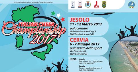 Campionato cheerleader 2017  Comune di Jesolo