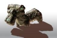Statuina di bronzo bovino stante