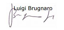 Firma di Luigi Brugnaro