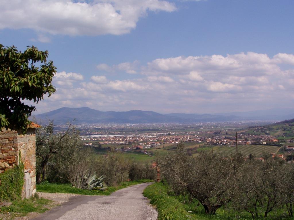 Panorama di Quarrata vista da Colle
