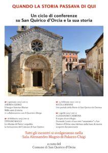 Un ciclo di conferenze su San Quirico dOrcia e la sua storia  Comune di San Quirico dOrcia