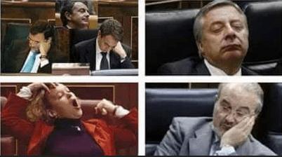 congreso de los diputados bebe dormido