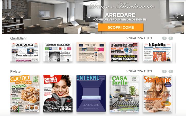 Rassegna stampa: fare una rassegna stampa cartacea con Edicola Italiana, edicola digitale online