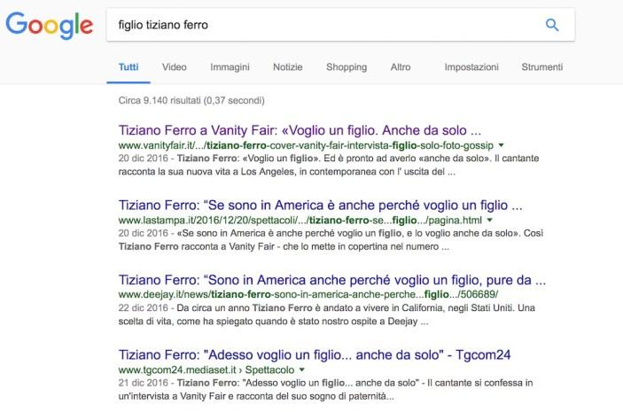 Tecniche PR: Tiziano Ferro fa parlare i media con l'annuncio di volere un figlio dall'utero in affitto...