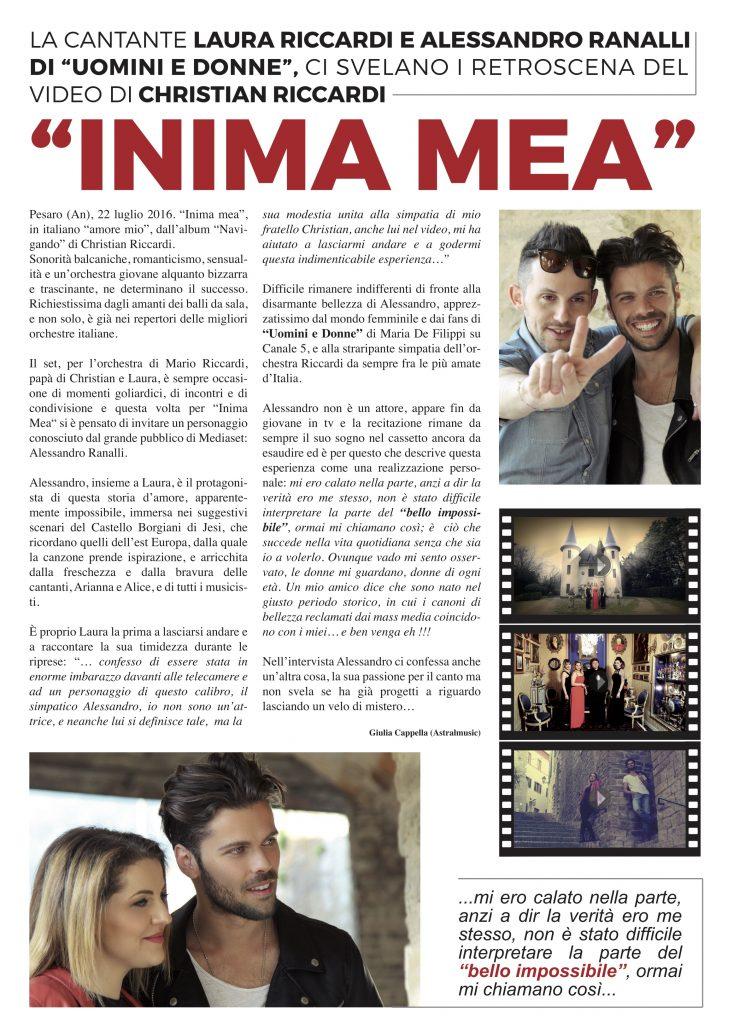 """Laura Riccardi e Alessandro Ranalli di """"Uomini e Donne"""" svelano i retroscena del video"""