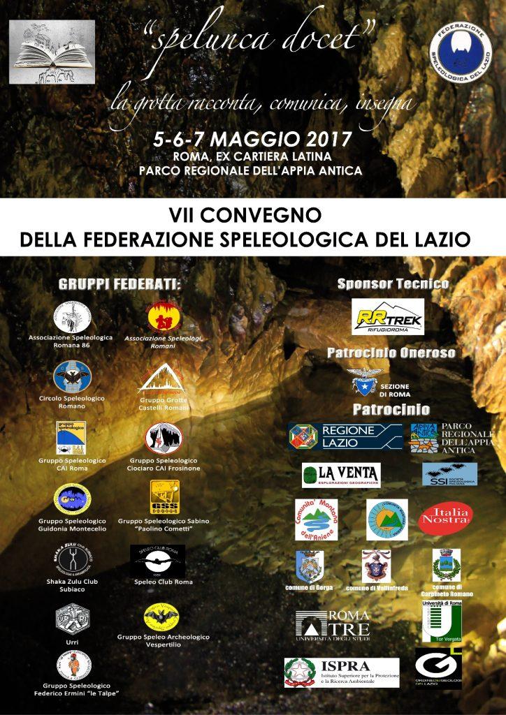 Speleologia: a maggio il VII Convegno della Federazione Speleologica del Lazio