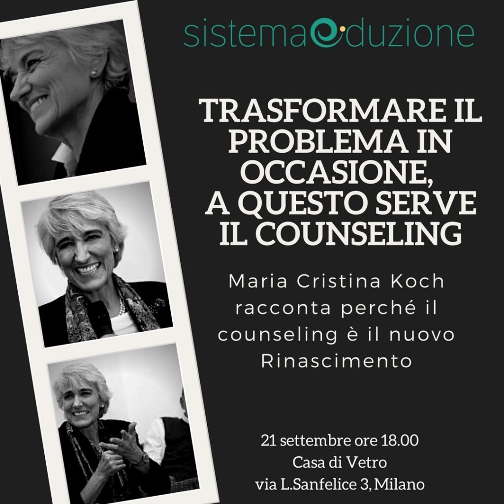 È il Counseling il nuovo Rinascimento, perché porta alla luce le nostre risorse e trasforma i problemi in soluzioni