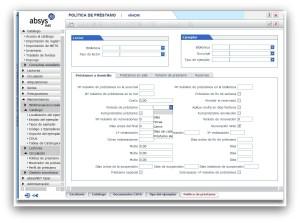 Parametrización de política de préstamo en AbsysNet