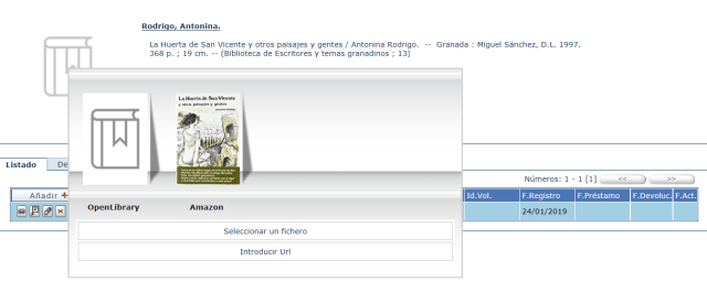Asociar la portada del libro al registro bibliográfico en AbsysNet