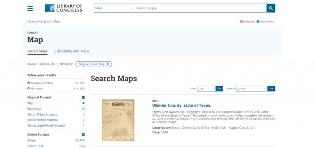 Colección de mapas de la Library of Congress