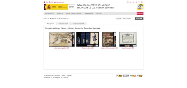 Colección de mapas y planos del Archivo General de Simancas