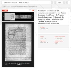 Vista de la ficha descriptiva de documento - MediaSearch - Diputación de Zaragoza