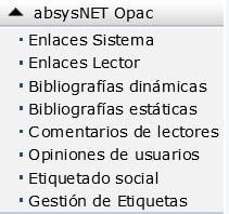 absysNET Opac / Bibliografías estáticas