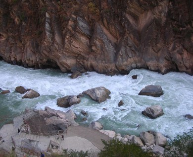 El río Yangtse, Yunnan