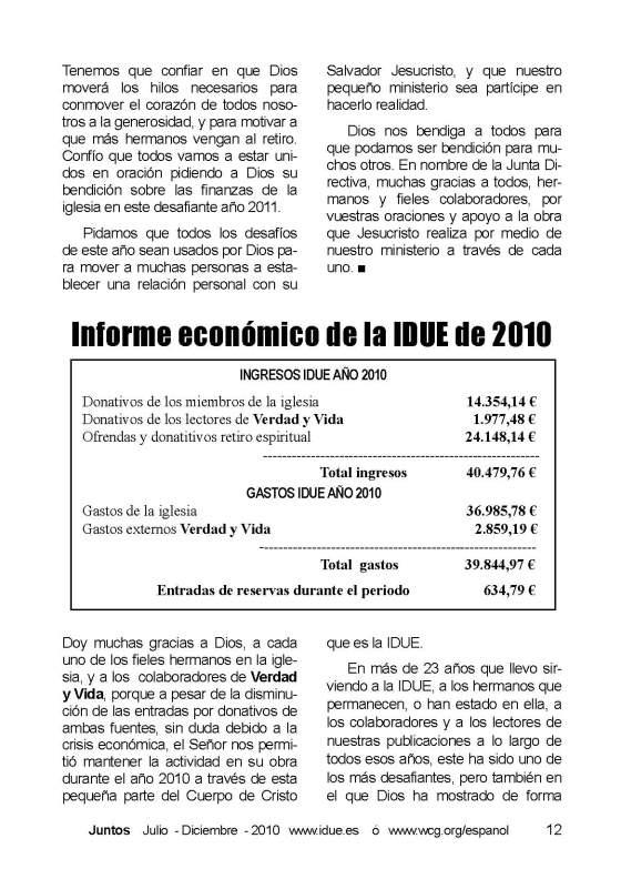 Página 12 Juntos 2010