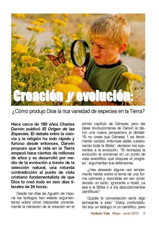 Creación y Evolución Página 1