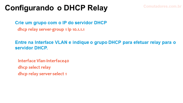 DHCP Relay - comware config b