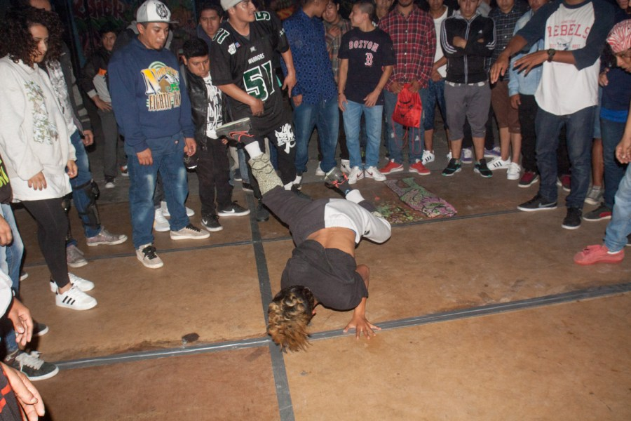 Bboys dance surrounded by a cypher. Photo: Hyungsup Kim/Comvite