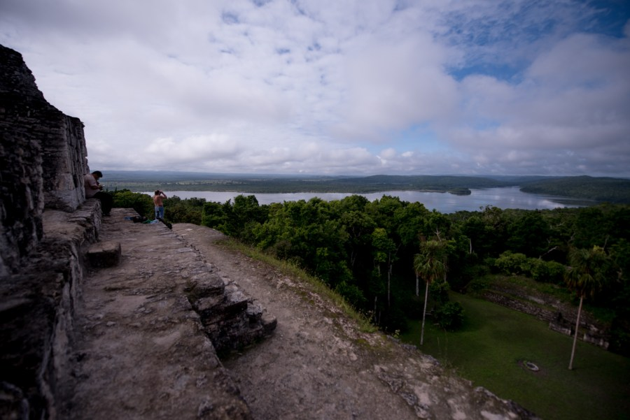 View from 216 overlooking the Yaxha lagoon and the island of Topoxté. Photo: Santiago Billy/Comvite