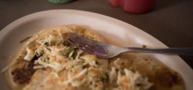 El Salvador's most notable dish: a pupusa. Photo: Santiago Billy/Comvite