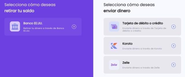 """Captura de """"transacciones"""" en Koroto App"""
