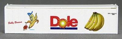 N 40 Ft TK Reefer Container Dole/Bobby BananaSoccer Ball (White ) (01) 4-43116