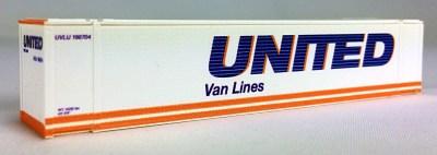 N 48 Ft Std Container UNITED VAN LINES (white) 2PK (01)