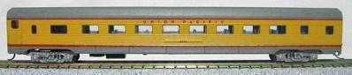 N Budd Union Pacific (2-tone Yellow Grey car)