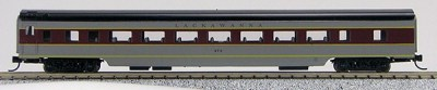 N Con-Cor Smooth Side Passenger Cars Lackawanna (Maroon & Grey) (1-40051)