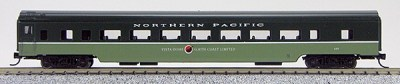 N Con-Cor Smooth Side Passenger Cars Northern Pacific (2 Tone Green) (1-40055)