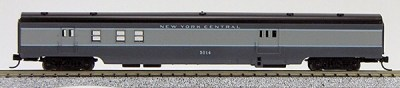 N Con-Cor Smooth Side Passenger Cars New York Central (2- Tone grey) (1-40035)