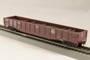 HO Gondola /with Resin Tie Half load Pennsylvania Railway - Boxcar red (02)