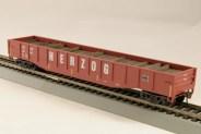 HO Gondola /with Resin Tie Full load Herzog Railway - Oxide (01)