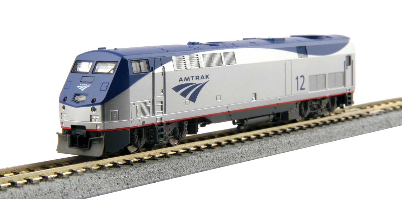 hight resolution of new lower price n kato ge p42 genesis standard dc amtrak 47 phase vb late low stripe silver blue gray