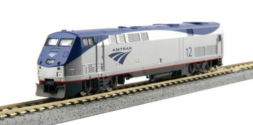 small resolution of new lower price n kato ge p42 genesis standard dc amtrak 47 phase vb late low stripe silver blue gray