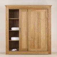 Quercus Solid Oak Sliding Door Wardrobe 1.8m - Con-Tempo ...
