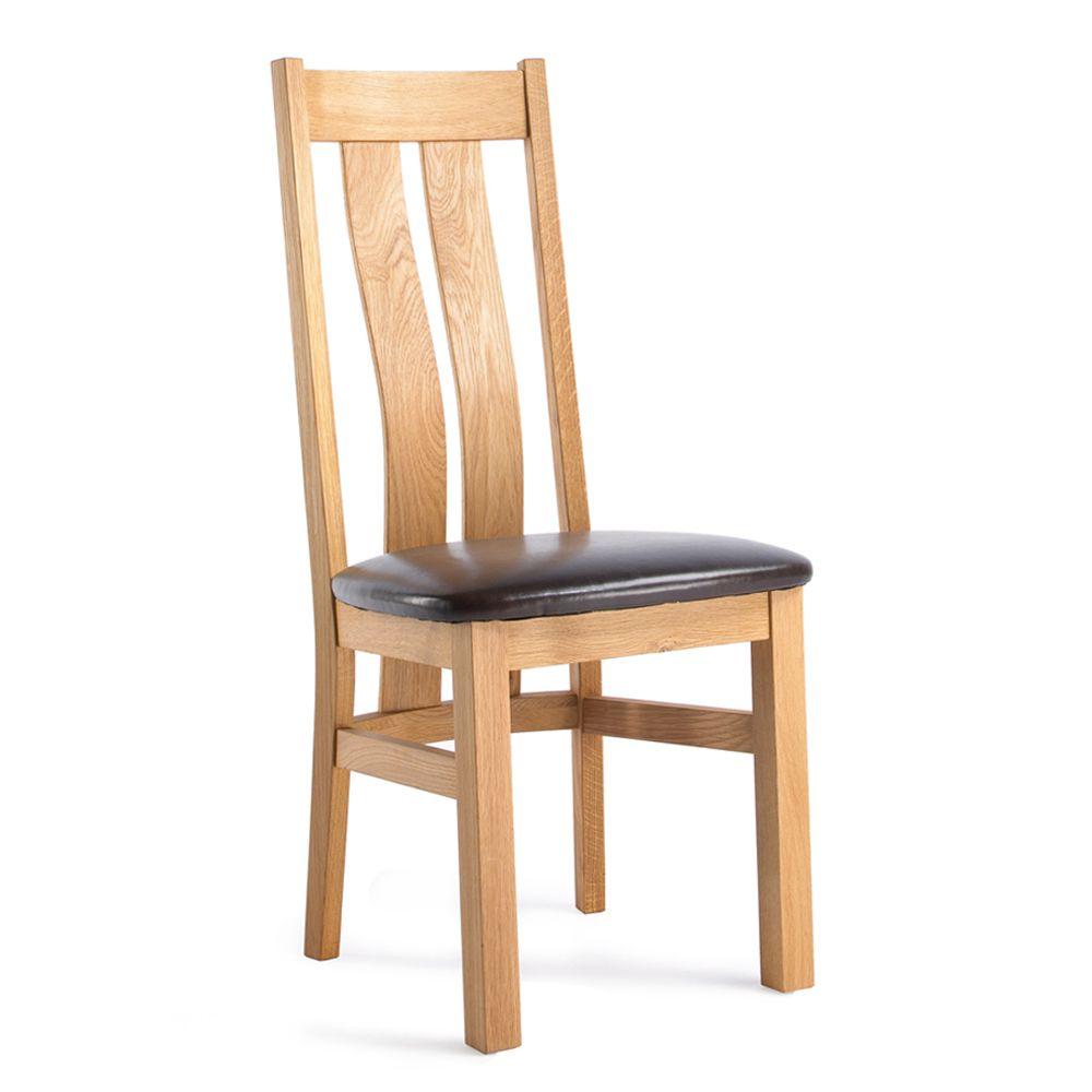 Oak Twin Slat Dining Chair