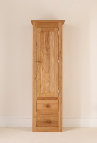 Quercus Oak Tall Boy Cabinet with Drawers and Doors - Con ...