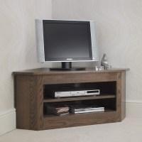 Ora Oak Small Open Corner TV Unit - Con-Tempo Furniture